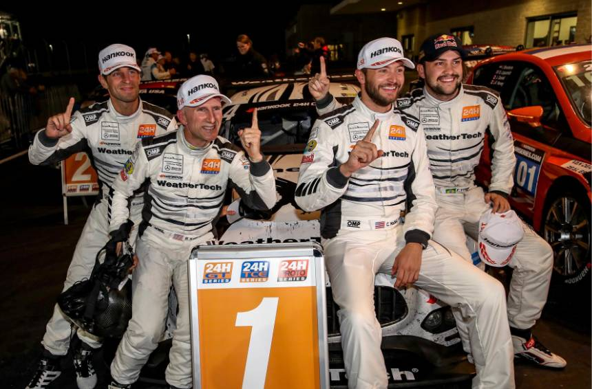 Racing drivers and team